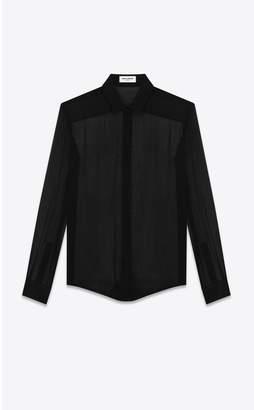Saint Laurent Shirt In Crepe Chiffon