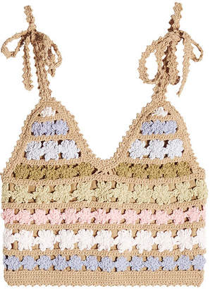 She Made Me Maala Crochet Knit Top