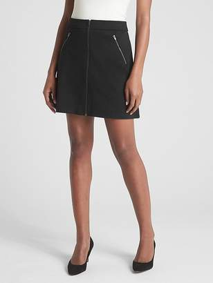 Gap Zip-Front Mini Skirt in Ponte