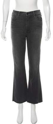Mother High-Rise The Hustler Ankle Fray Jeans