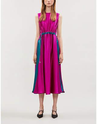 Roksanda Ilincic Keeva colour-blocked silk midi dress