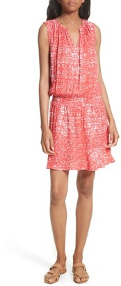 Women's Soft Joie Zealana Print Smocked Blouson Dress $188 thestylecure.com