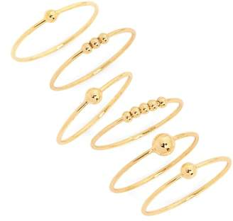 Gorjana Newport Set of 6 Mixed Stacking Rings