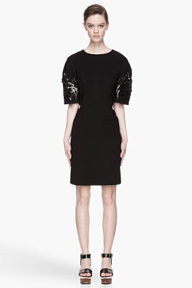 Marni Wool Crepe embroidered and gemmed Dress