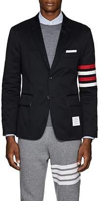 Thom Browne Men's Classic Block-Striped Cotton Three-Button Sportcoat