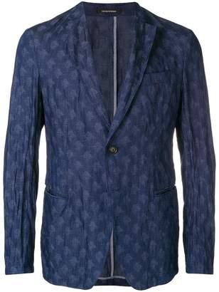 Emporio Armani unstructured printed blazer