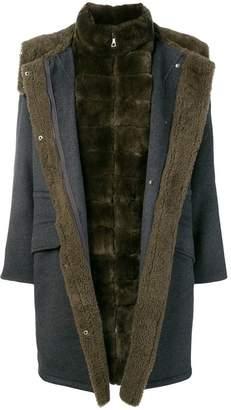 Yves Salomon fur trimmed coat