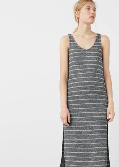 MANGO OUTLET Side slit dress
