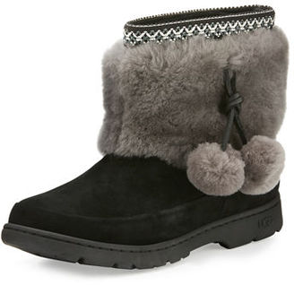 Ugg Brie Pompom Weather Boot $108 thestylecure.com