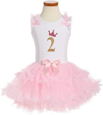 Popatu Birthday Print Tutu Dress