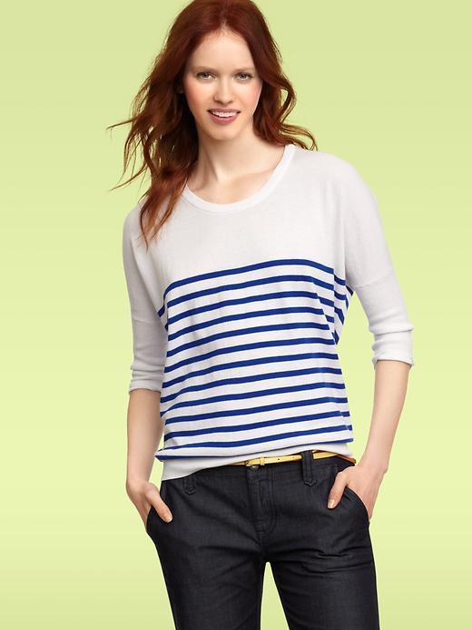 Striped circle sweater