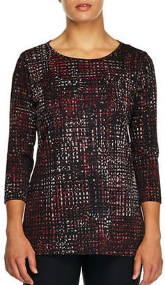 Haggar Petite Cross-knit Tunic