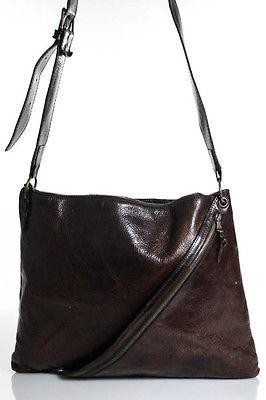 John Varvatos Brown Leather Crossbody Handbag $29 thestylecure.com