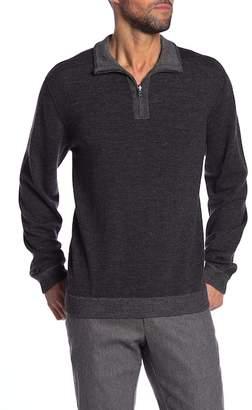 Tailor Vintage Reversible 1\u002F4 Zip Sweater