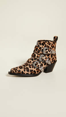 R 13 Three Buckle Ankle Boots