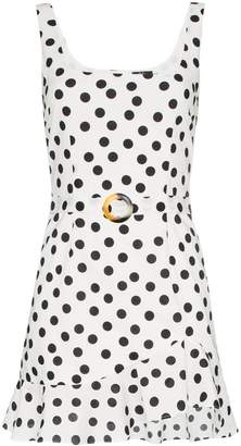 De La Vali Christabel polka-dot cotton dress