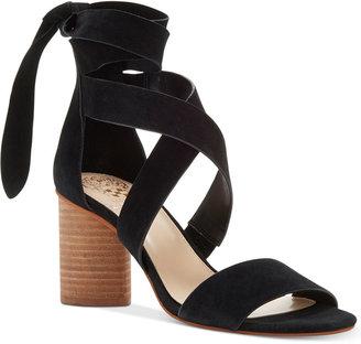 Vince Camuto Jeneve Strappy Block-Heel Sandals Women's Shoes $119 thestylecure.com