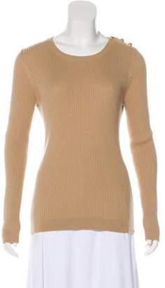 Tory Burch Long Sleeve Crew Neck Sweater