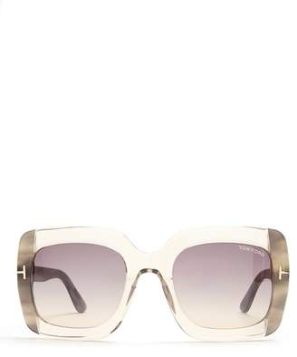 Tom Ford Square Frame Sunglasses - Womens - Clear