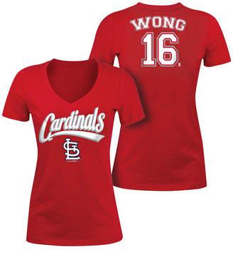 5th & Ocean Women Kolten Wong St. Louis Cardinals Foil Player T-Shirt