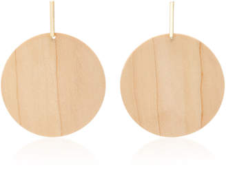 The Palma Gold-Plated Wood Earrings Sophie Monet s3SoXDK