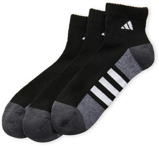 adidas 3-Pack Quarter-Cut Cushioned Socks