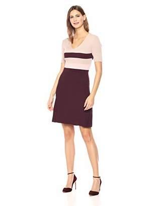 Ellen Tracy Women's Longsleeve Plated Stitch Dress