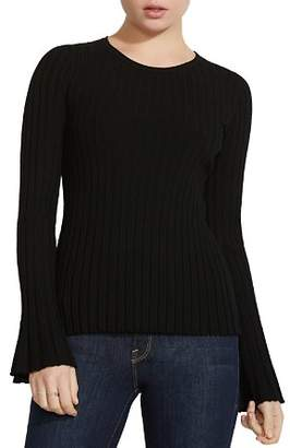 Bailey 44 Bell-Sleeve Rib-Knit Sweater