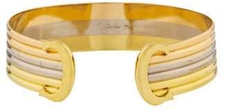 Cartier Vintage Double C de Logo Gold Cuff