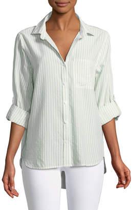 Velvet Heart Elisa Striped Button-Front Blouse