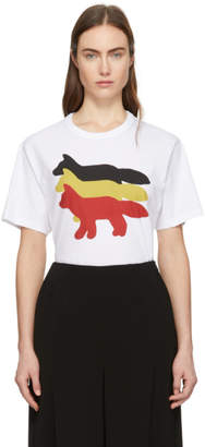 MAISON KITSUNÉ White Three Foxes T-Shirt