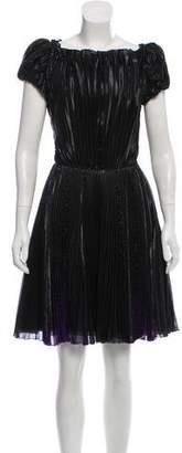 Emporio Armani Metallic Plissé Dress