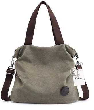 fea559c2a78 Yoome Large Capacity Canvas Hobo Tote Bag Casual Crossbody Shoulder Handbag  for Women