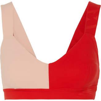Vaara - Elsa Two-tone Stretch-knit Sports Bra - Red