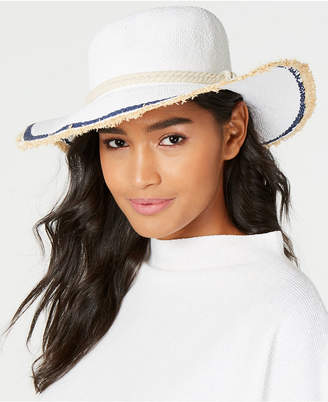 INC International Concepts Inc Twisted Straw & Rope Detail Floppy Hat