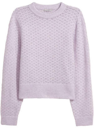 H&M Mohair-blend Sweater - Purple