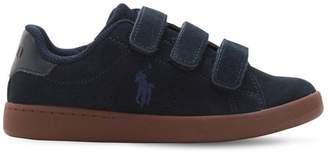 Ralph Lauren Childrenswear Logo Detail Suede Straps Sneakers