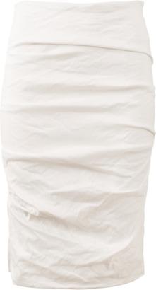 NICOLE MILLER Sandy Cotton Metal Skirt $275 thestylecure.com