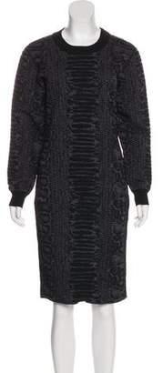 Lanvin Wool Matelassé Dress w/ Tags