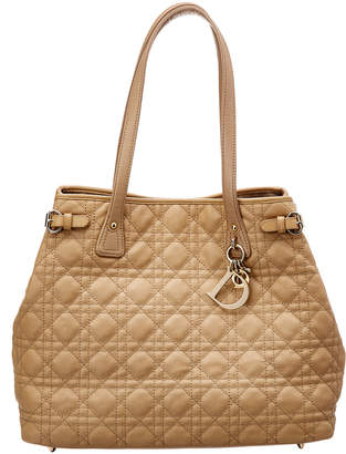 Christian Dior Beige Coated Canvas Panarea Tote