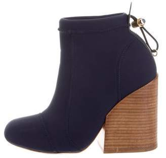 Chloé Canvas Round-Toe Ankle Boots