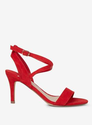 8fb6184f5293 Dorothy Perkins Womens Wide Fit Red  Samia  Microfibre Heeled Sandals
