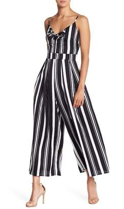 Romeo & Juliet Couture Striped Bow Jumpsuit