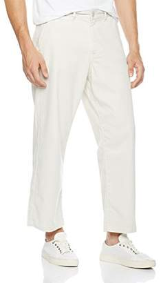Co Quality Durables Men's Stretch Cotton Bootcut Cropped Chino Pants