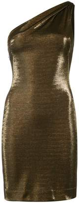 Dakota Haney metallic one-shoulder mini dress