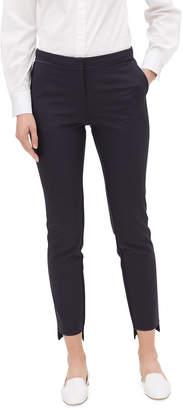 Lafayette 148 New York Manhattan Slim-Leg Stretch Pants w/ Step Hem