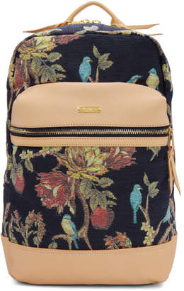 Master-piece Co Pink and Navy Floral Backpack