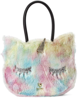 Betsey Johnson Luv Betsey By Rainbow Balley Faux Fur Cat Tote