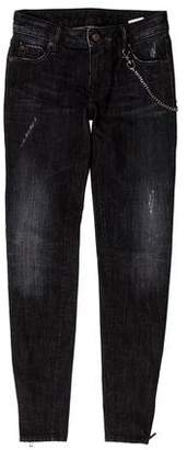DSQUARED2 Distressed Mid-Rise Skinny Jeans