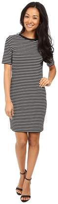MICHAEL Michael Kors Turner Stripe Crew Neck Dress Women's Dress